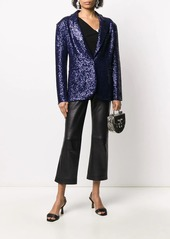 Norma Kamali sequin-embellished single breasted blazer