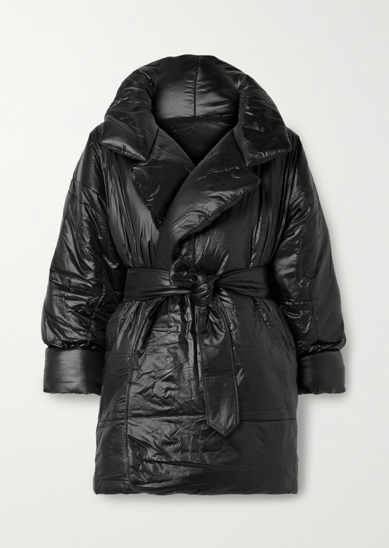 Norma Kamali Sleeping Bag Oversized Belted Shell Coat