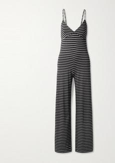 Norma Kamali Slip Striped Stretch-jersey Jumpsuit