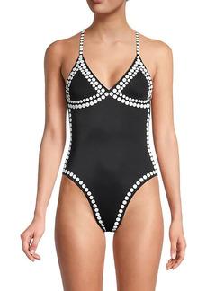 Norma Kamali Studded One-Piece Swimsuit