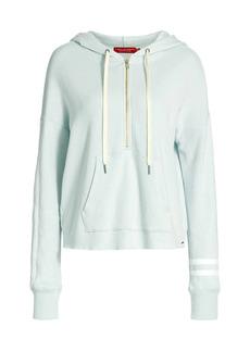 n:Philanthropy Abbie Hooded Half-Zip Stripe Sweatshirt