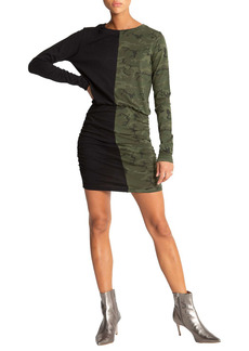 n:PHILANTHROPY Grant Colorblock Camo Long Sleeve Minidress