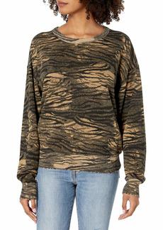 n:PHILANTHROPY Women's Lauren Long Sleeve Casual Pullover Crew Neck Sweatshirt