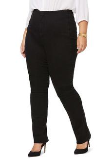 NYDJ Marilyn Flat Front Slim Straight Leg Jeans (Plus Size)