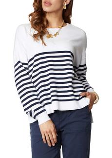 NYDJ Stripe Crewneck Sweater