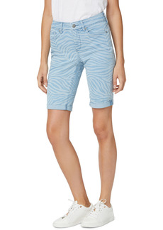 Petite Women's Nydj Briella Roll Cuff Denim Shorts