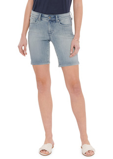 Petite Women's Nydj Ella Side Slit Denim Shorts