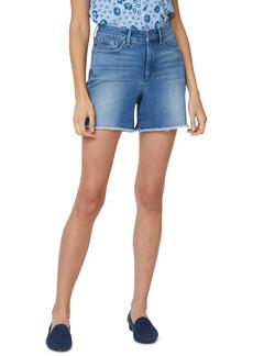 Petite Women's Nydj High Waist Fray Hem A-Line Shorts