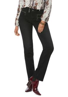 Petite Women's Nydj Marilyn Hip Zip Straight Leg Jeans