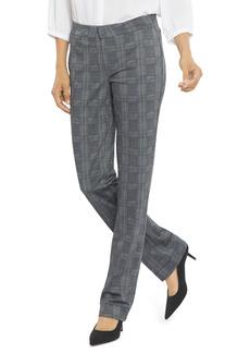 Petite Women's Nydj Plaid Slim Ponte Trousers