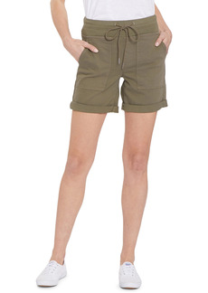 Petite Women's Nydj Roll Cuff Cargo Shorts