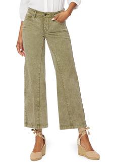 Petite Women's Nydj Teresa Cropped Wide Leg Jeans