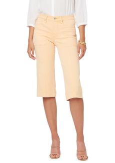 Petite Women's Nydj Wide Leg Capri Jeans