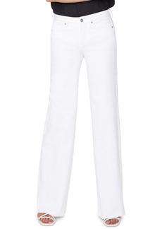 Women's Nydj Teresa High Waist Fray Hem Wide Leg Trouser Jeans