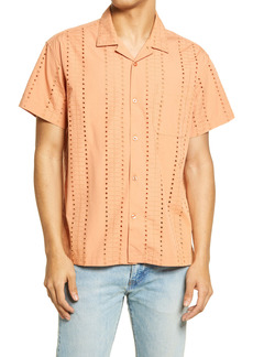 Obey Baxter Short Sleeve Organic Cotton Button-Up Camp Shirt