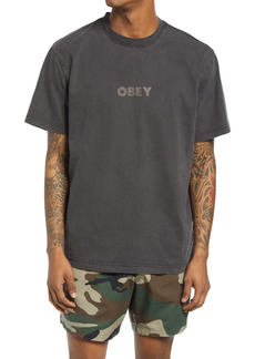 Obey Bold Ideals Logo Organic Cotton T-Shirt