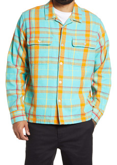 Obey Daniel Plaid Button-Up Flannel Shirt