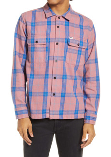 Obey Jack Plaid Organic Cotton Button-Up Shirt