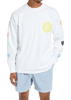 Obey Peace Justice Equality Long Sleeve Graphic Tee