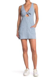 Obey Vista Front Tie Mini Dress