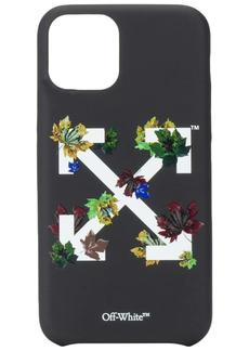 Off-White leaf-detail Arrows-motif iPhone 11 Pro case