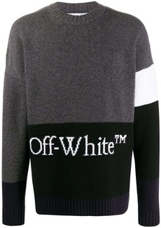 Off-White block-panel knitted jumper