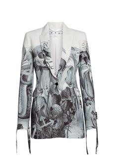 Off-White Botanical Strings Single Button Jacket