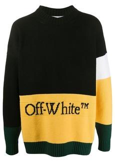 Off-White colour-block logo detail jumper