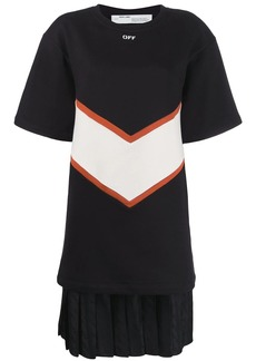 Off-White contrasting panels T-shirt dress