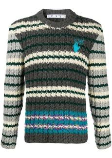 Off-White Hand horizontal-stripe jumper