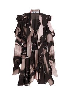 Off-White Liquid Melt New Romantic Ruffle Dress
