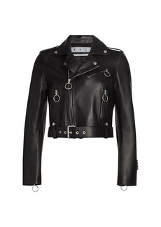 Off-White Liquid Melt Regular Biker Leather Jacket