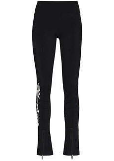 Off-White logo-print split-ankle performance leggings