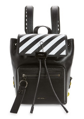 Off-White Diagonal Leather Backpack