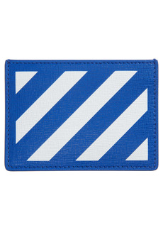 Off-White Diagonal Stripe Card Wallet