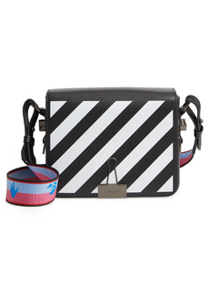 Off-White Diagonal Stripe Flap Bag