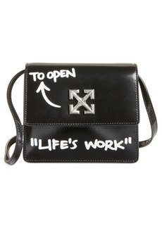 Off-White Jitney 0.7 Life's Work Leather Crossbody Bag