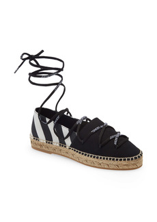 Off-White Lace-Up Espadrille Flat (Women)