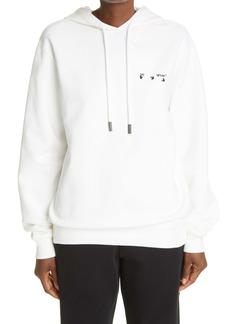Off-White Liquid Melt Arrow Logo Women's Hoodie