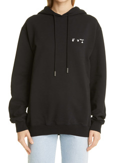 Off-White Logo Oversize Cotton Hoodie