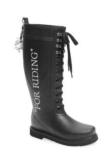 Off-White Quote Rain Boot (Women)