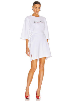 OFF-WHITE Script Logo Coulisse Dress