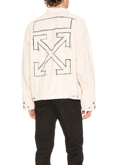 OFF-WHITE Taft Point Leather Jacket