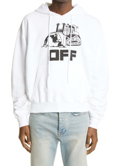 Off-White World Caterpillar Oversize Graphic Hoodie