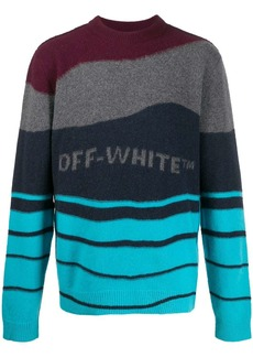 Off-White striped knitted jumper