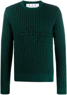 Off-White striped logo knitted jumper