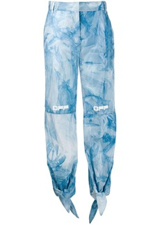 Off-White tie-dye bow track pants