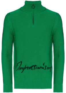 Off-White intarsia knit logo turtleneck jumper