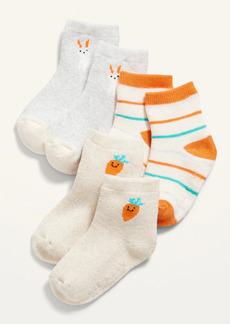Old Navy 3-Pack Easter-Print Crew Socks for Baby