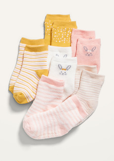 Old Navy 6-Pack Printed Crew Socks for Baby
